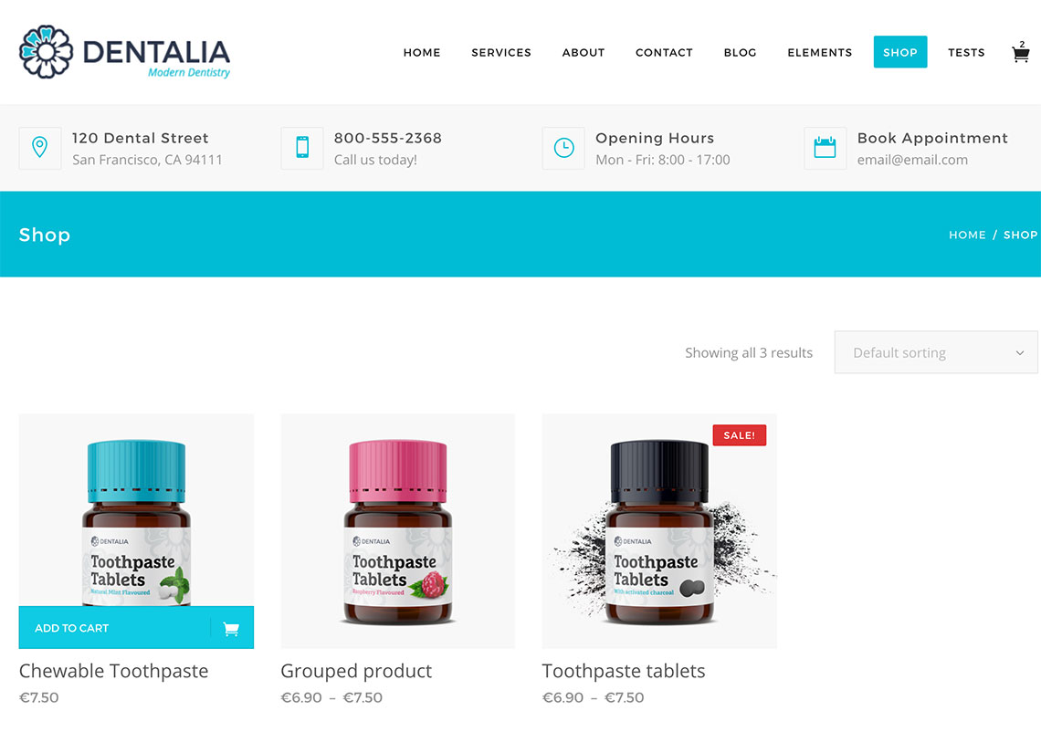 Dentalia WooCommerce
